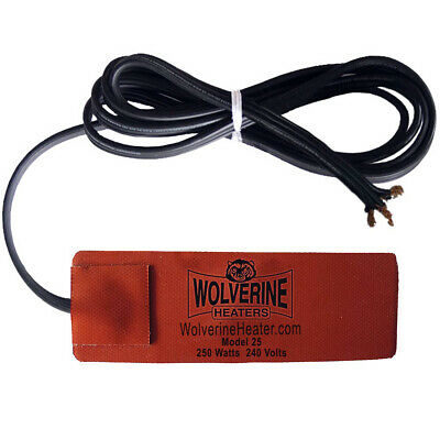 "Wolverine Silicone Pad Heater 2.75 x 6.75"" 250w 230v - Engine Oil Fuel Filter"