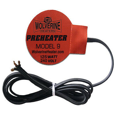 """Wolverine Silicone Pad Heater 3"""" Round 125w 230v - Engine Oil Sump Fuel Filter"""