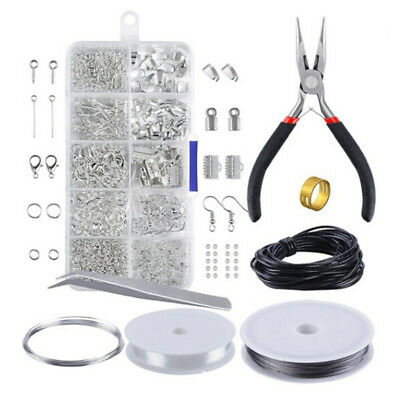 Wire Jewelry Making Starter Kit Sterling Silver and Repair Tools Craft Supply TK
