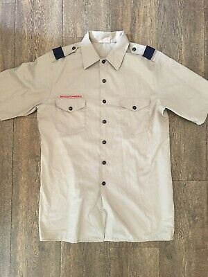 Boy Scouts of America BSA Official Uniform Shirt Adult Men's Large Beige