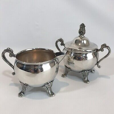 Newport Gorham Silverplate Sugar and Creamer Set  Excellent No Dents