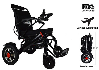 Folding Lightweight Electric Power Wheelchair Medical Mobility Aid Motorized New