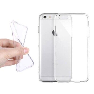 For iPhone 7 Plus 8 Plus Crystal Clear Shockproof Silicone Protective Case Cover