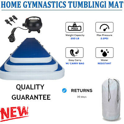 Airtrack Air Track Floor Home Inflatable Gymnastics Tumbling Mat GYM w/ Pump HOT