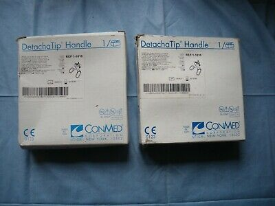 2 conmed detachatip handle multiple use handle with ratchet 1-1010