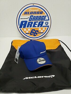 McLaren F1 Logo Hat in Blue + Bag + Sign* NEW WITH TAGS