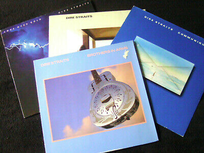 DIRE STRAITS 4Lp's FIRST ALBUM, COMMUNIQUE, LOVE OVER GOLD & BROTHERS IN ARMS