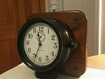 "WWII 1944 Seth Thomas Mark I Deck Clock ""8 Day"" All Original And Beauty As-Is!"