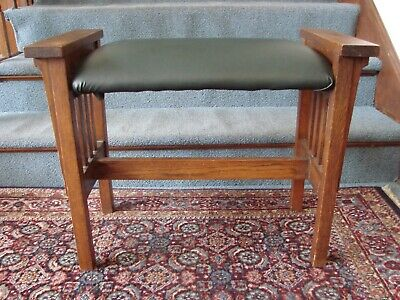 Antique Spindle Side Bench Arts & Crafts Mission Craftsman L&JG Stickley/Limbert