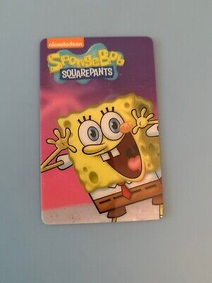 Dave And Busters Arcade Coin Pusher Spongebob Squarepants Card