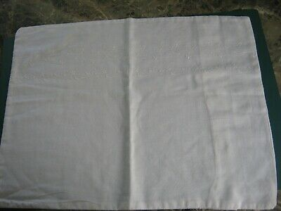 Vintage babies white cotton embroidered pillow case