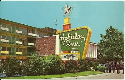 Vintage Holiday Inn Capitol Hill Nashville TN RPPC Chrome Postcard