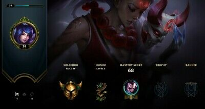 League of Legends Account - Gold 4 EUW - 29 Champs 3, Skins - 64% Winrate