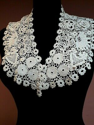 Antique Lace Collar Irish Crochet? Vintage Original