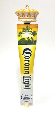 """Corona Light Find Your Beach Palm Tree Tap Handle New In Box & F/S - 12.75"""" Tall"""