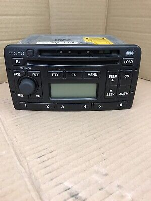 Ford Fiesta Focus Etc Car Stereo Radio 6 Disc Cd Player With Code Ford 6006e