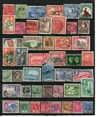 British Commonwealth  Early Mixture From A Old Collection Useful Lot Unchecked