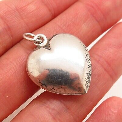 Tiffany & Co. 925 Sterling Silver Puffy Heart Charm Pendant