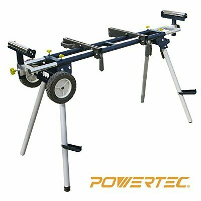 POWERTEC MT4000 Deluxe Miter Saw Stand with Wheels and 110V Power Outlet