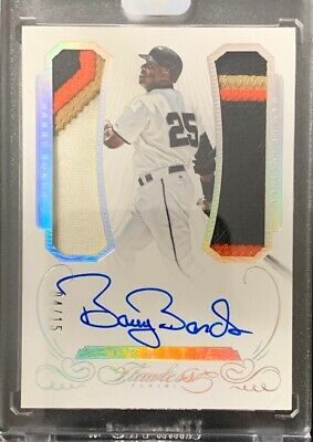 BARRY BONDS 2016 Panini Flawless Greats  4-COLOR PATCH Dual Relic #'d 4/15 Auto