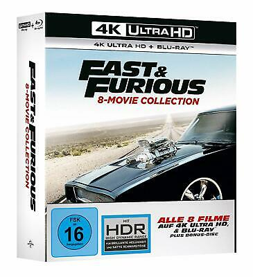 Fast and & Furious 8 Movie Collection Blu Ray & 4K Komplette Serie NEU & OVP UHD