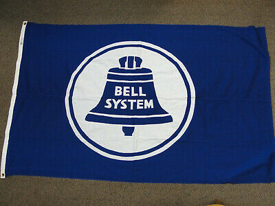 Vintage Original Bell System Hand Stitched Flag Telephone Telegraph Co Defiance