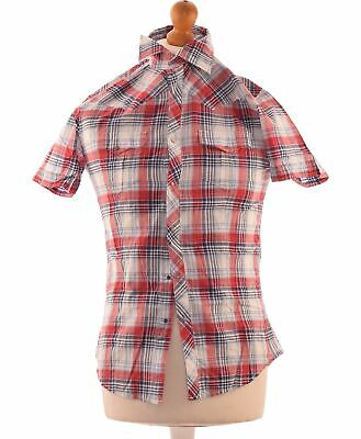 Chemise Manches Courtes Guess Taille 36 - T1 - S Rouge