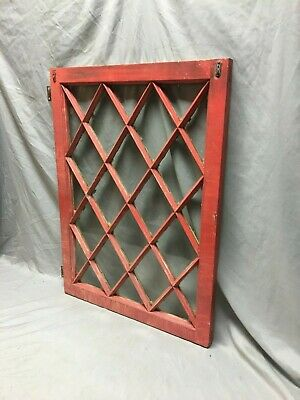 Antique Diamond  Casement Window  Shabby cabinet Chic Door 24X33 Vtg 100-19J