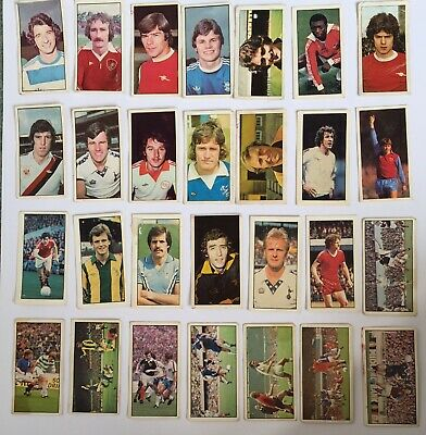 28 Vintage Bassetts Candy Trading Cards Soccer Football Gum Cigarette 1970s 80s