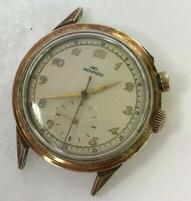 Vintage Movado one push button Swiss Chronograph hand winding mens watch, c. 470