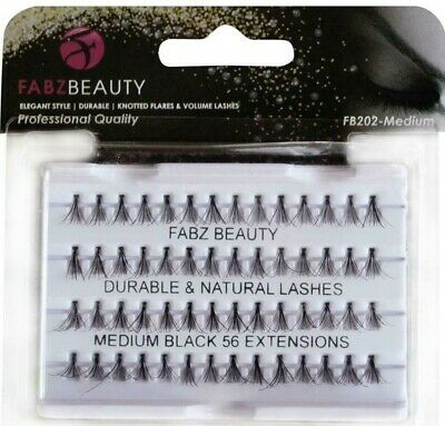 Dura Lash, False Durable Eyelashes Individual Flare Clusters Fabz Beauty