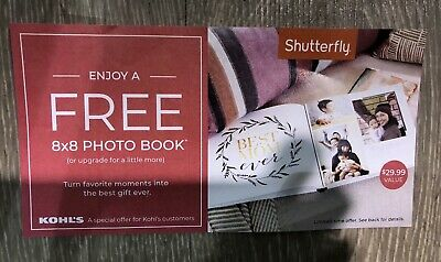 Shutterfly 8x8 Hard Cover Photo Book Coupon KH