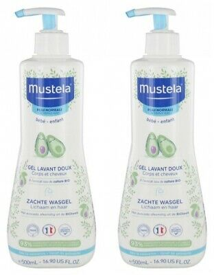 Mustela Gentle Cleansing Gel 500ml - Mustela Hair and Body Wash TWIN PACK