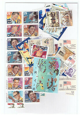 Us $50.00 Face Mint/Nh Postage Lot Of Mostly 29¢ Values