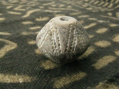 Antique Mali Clay Spindle Whorl Counterweight Weaving Tool Trade Bead 26mmX33mm