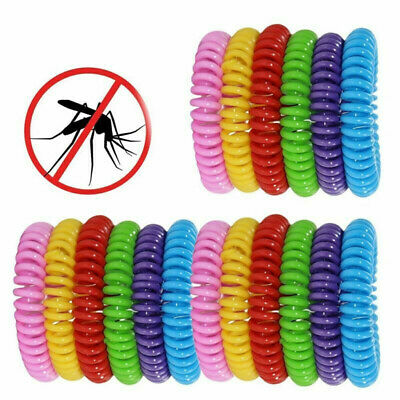 10 Pack Mosquito Repellent Bracelet Band Pest Control Insect Bug Repel