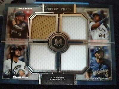 2019 Topps MUSEUM COLLECTION Prime Pieces Milwaukee Brewers #05/99 P/R Only 99