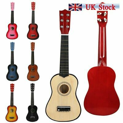 """21"""" Inch Childrens Kids Wooden Acoustic Guitar Musical Instrument Child Toy Gift"""