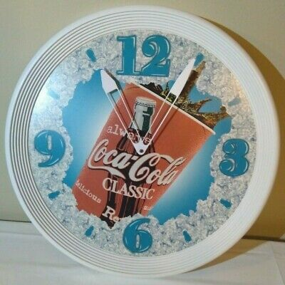 "Large Coca-Cola Advertising Clock Always 18.5"" Working HTF from Theater Coke 90s"