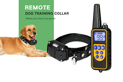 800m Remote Dog Shock Training Collar Electric Waterproof Rechargeable 3 Modes