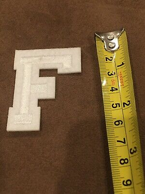 Letter F       Alphabet 26 Letters Embroidered Iron On Patch Sew DIY Accessories