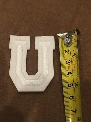 Letter U       Alphabet 26 Letters Embroidered Iron On Patch Sew DIY Accessories
