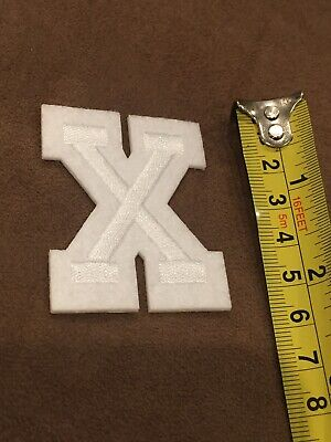 Letter X       Alphabet 26 Letters Embroidered Iron On Patch Sew DIY Accessories