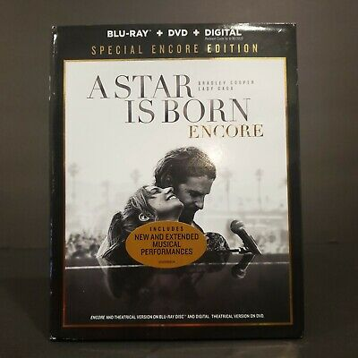 A Star is Born: Encore Edition (Blu-ray+DVD + Digital + Slipcover) NEW SEALED!
