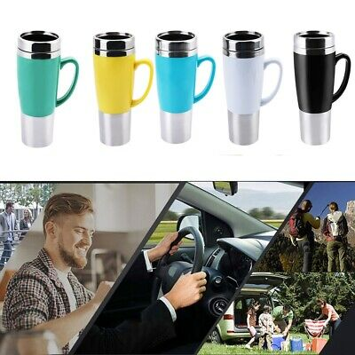 Electric Insulated Cup Stainless Steel Travel Portable Car Heated Coffee Cup Mug