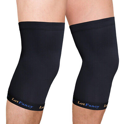 2x Copper Compression Knee Sleeve Brace/Running/Arthritis/Joint Support/Tennis