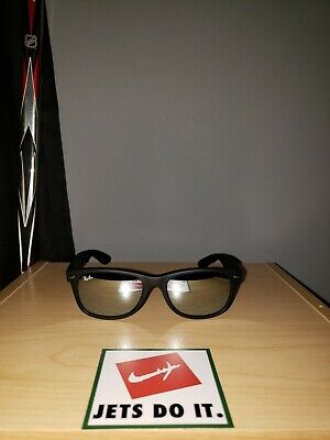 Authentic Ray-Ban RB2132 New Wayfarer Sunglasses Black / Chrome