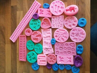 Silicone Cake Decorating Icing Sugarcraft Moulds *Job lot*