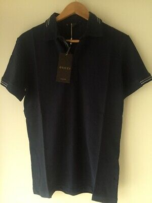 0a3680029 New! Short Sleeve Navy Blue Color Polo Shirt Size L with tags 24Guccy0.2019