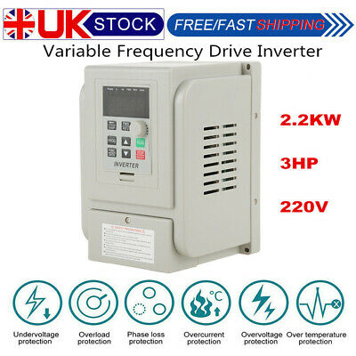 2.2KW 3HP AC 220V Single To 3 Phase Variable Frequency Drive Inverter CNC VFD UK